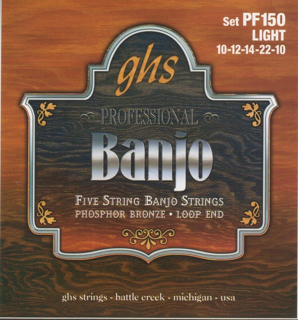 GHS PF150 Phosphor Bronze Light Gauge Five-String Banjo Strings