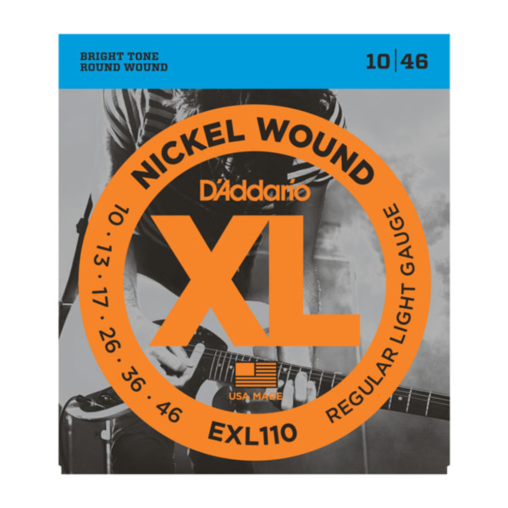 D'Addario EXL110 Nickel Wound Light Gauge Electric Guitar Strings