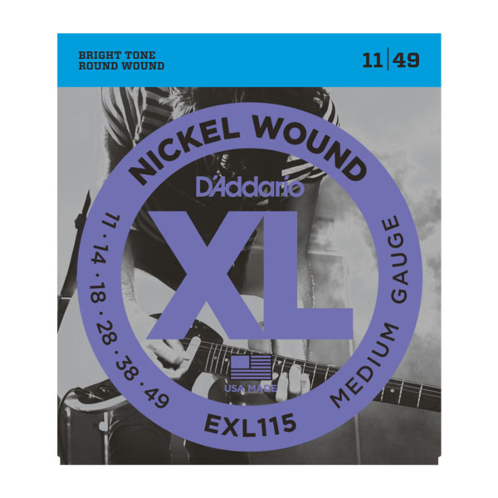D'Addario EXL115 Nickel Wound Medium Gauge Electric Guitar Strings