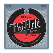 D'Addario EJ45FF Pro-Arte Carbon Trebles and Dynacore Basses Normal Tension Classical Acoustic Guitar String