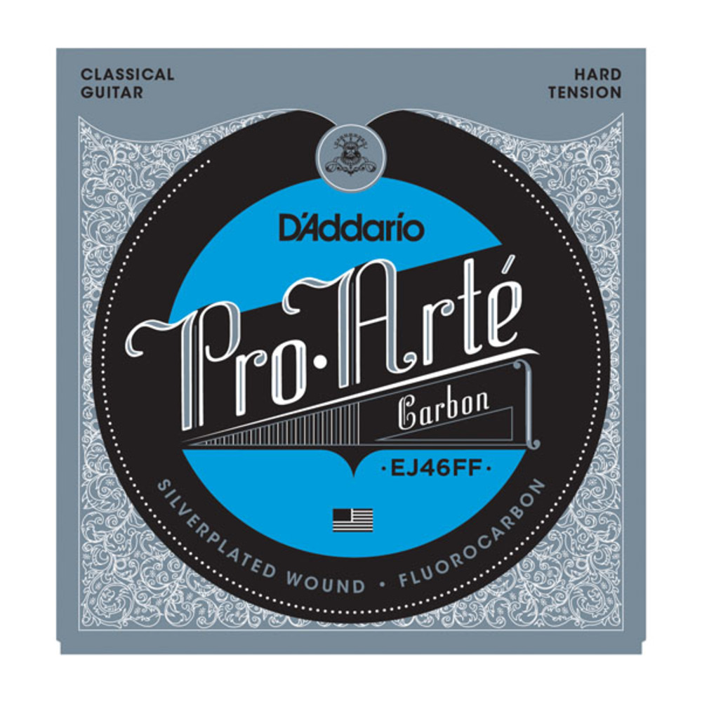 D'Addrio EJ46FF Carbon Trebles Dynacore Basses Hard Tension Classical Acoustic Guitar Strings