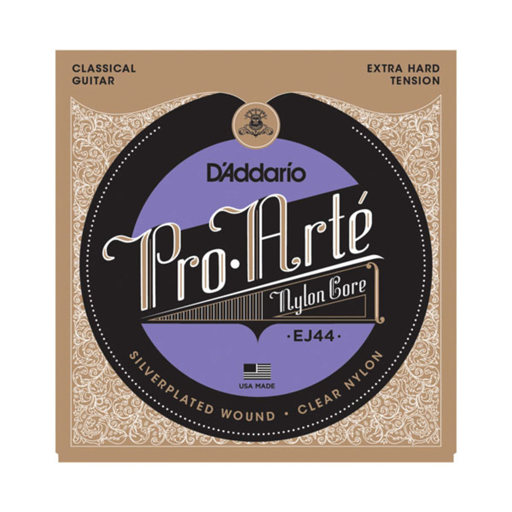 D'Addario EJ44 Silver Plated Wound Clear Trebles Extra Hard Tension Classical Acoustic Guitar Strings