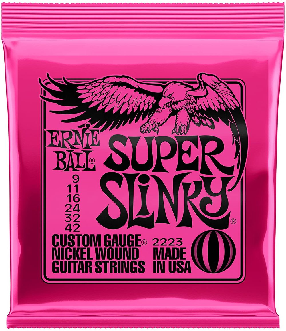 Ernie Ball 2223 Super Slinky Custom Gauge Nickel Wound guitar Strings