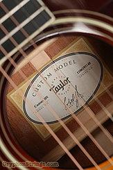 2019 Taylor Guitar Custom Dreadnought Mahogany/Adirondack Image 13