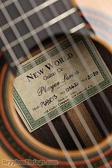 New World Guitar Player 640 Fingerstyle, Cedar NEW Image 7