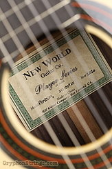 New World Guitar Player 640 Fingerstyle, Spruce NEW Image 7