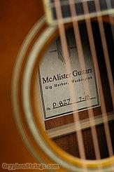 2018 McAlister Guitar  Pretender sunburst Image 9