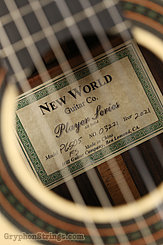 New World Guitar Player 650 Fingerstyle, Spruce NEW Image 8
