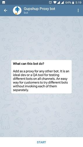Gupshup - Build, Deploy and Test bots on Telegram