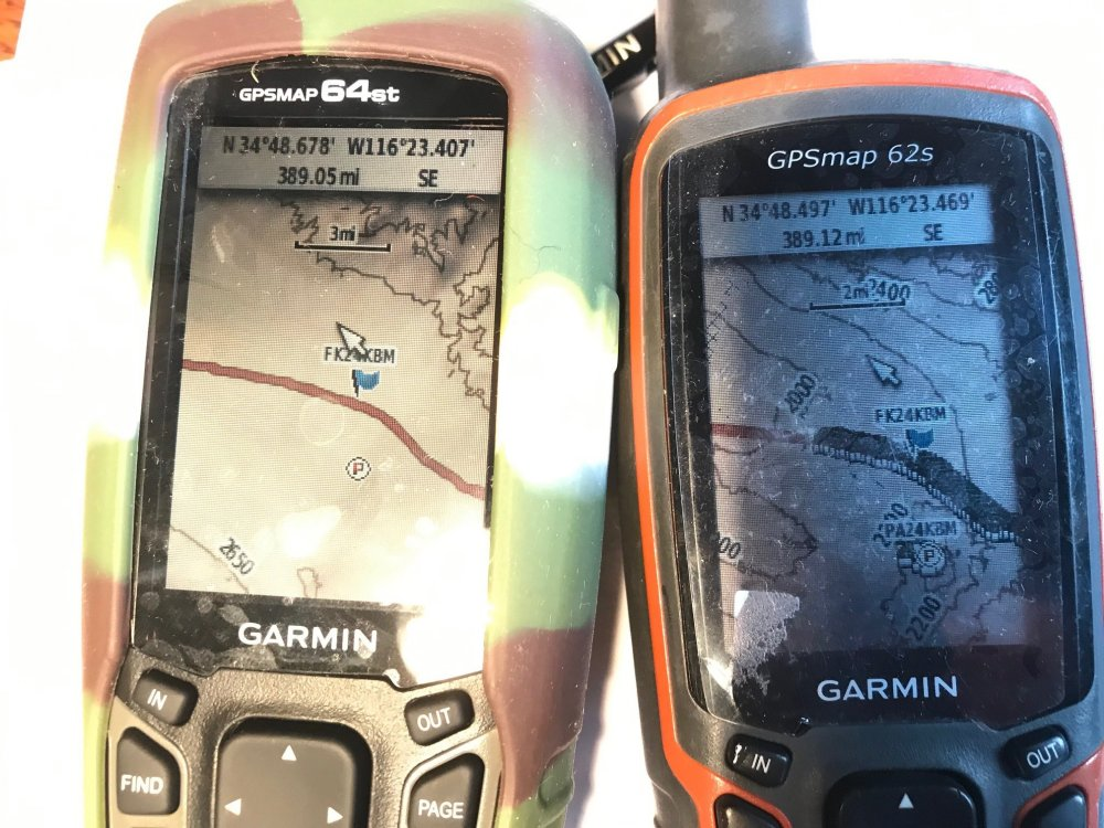 Old Route 66 caches showing on 2 devices .jpg