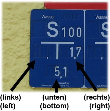 Hinweisschild / water line sign
