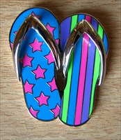 Summer (Stars & Stripes) Flip Flops Geocoin (1)