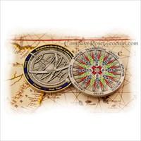 2009 Compass Rose Geocoin - Silver
