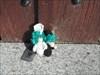 Á porta da Igreja da Boidobra