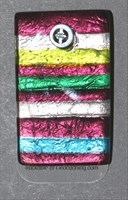 beadlavendarmulticolglassrectangle