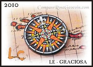 Compass Rose 2010 Geocoin LE *Graciosa*