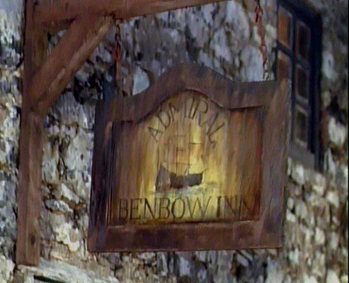 Film still: the inn sign