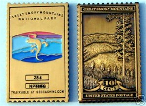 Great Smoky Mtn Stamp geocoin