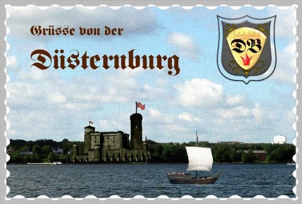 Postkarte: Grüsse von der Düsternburg