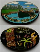 River Cacher Memorial Geocoin - Black Nickel