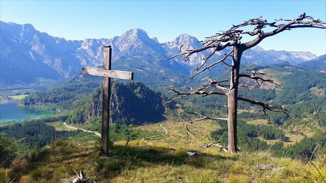 Gipfelfoto vom Almseeblick