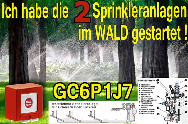 Waldbrandsprinkleranlage Wiernsheim der Sprinkler
