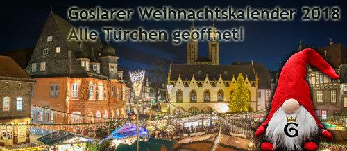Goslarer Weihnachtskalender 2018: Ich habe alle Türchen geöffnet