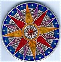 Compass Rose Geocoin 2012 - Kalahari - FRONT