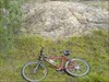 Bike in front of quarry log image