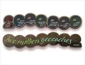 Million Geocache Geocoin