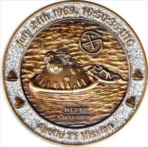 40 Years Man on the Moon - Earth Geocoin LE (1)