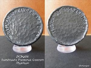 SCAVOK Handmade Personal Geocoin - Plumbum