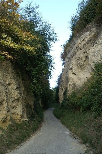 Lößhohlgasse Eichberg in Vogtsburg-Bickensohl im Kaiserstuhl