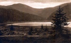 Jezero na začátku 20. století