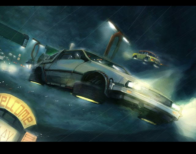Back To The Future 2 Flying Cars | www.imgkid.com - The ...