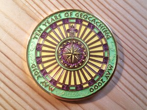 10 Years of Geocaching Multi Event Geocoin