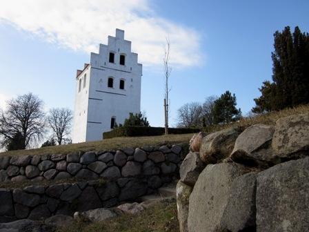 Klokketårnet ved Kerte kirke