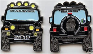 Another In The AETOYS Series Of Wonderful Jeep Geocoins, This Time  Representing Tread Lightly. Coins Sold In Limited Numbers And Colors.