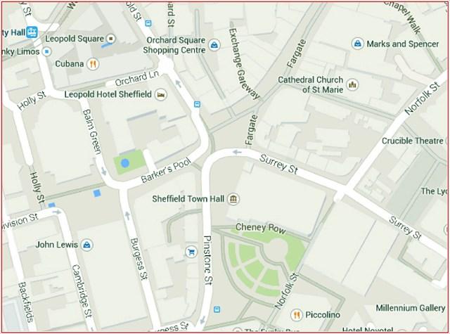 GC5HQXB Sheffield City Centre Treasure Hunt Multicache in