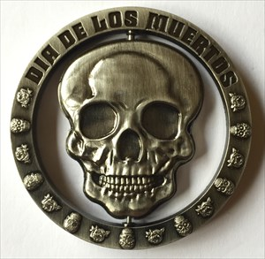LordT's Day of the Dead Geocoin - Front