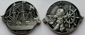 Fridtjof van Haudegen Geocoin - Antique Silver