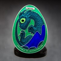 Dragon Egg (Silver/Blue/Turquoise)