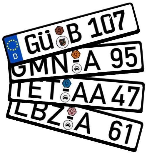 Autokennzeichen Hgn