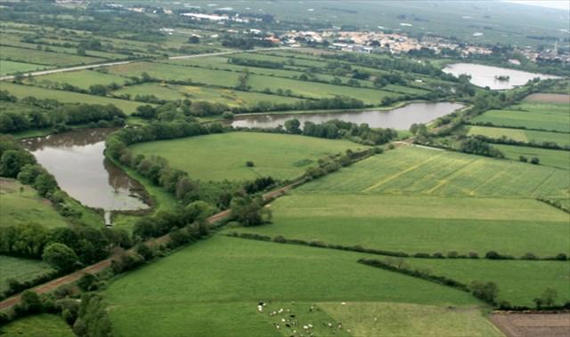 Vue aérienne des étangs