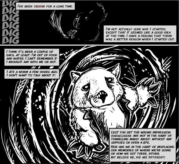 Die Höhle des Wombat