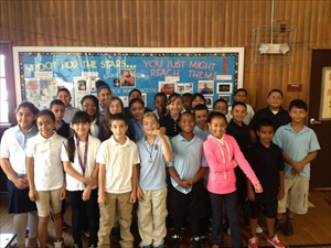Chase Elementary School Students with the TB