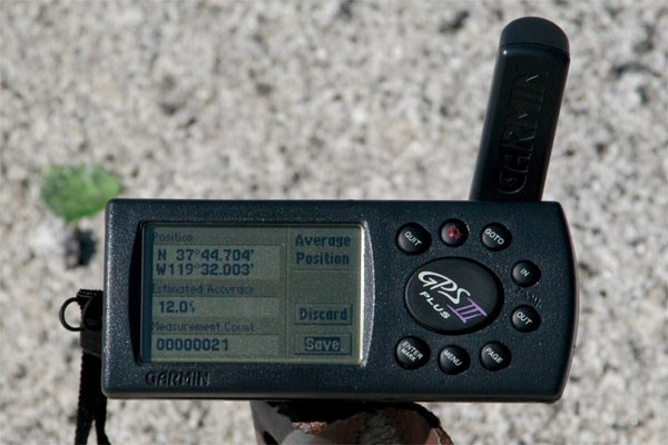 GPS on the cache site
