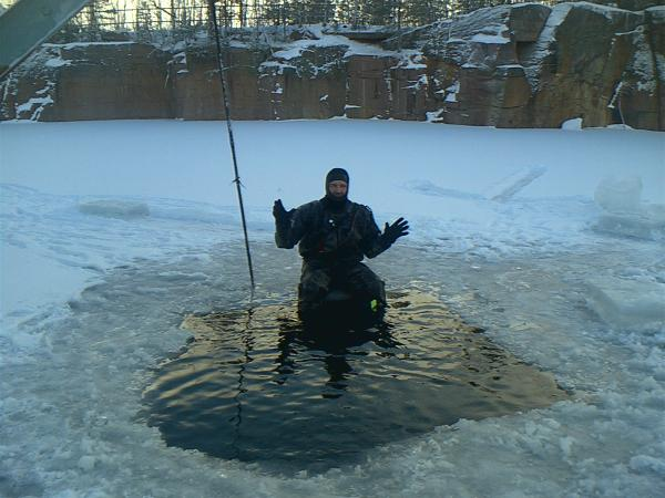 Diving in winter