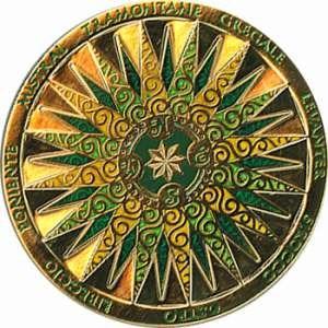 Geocoin #001: Compass Rose 2010 Geocoin