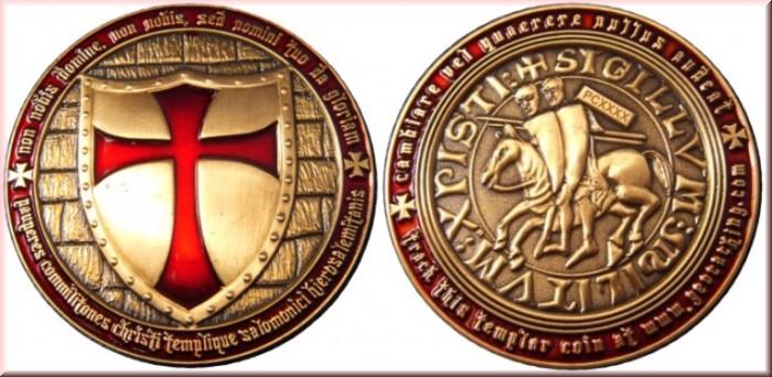 StePet Templar Geocoin